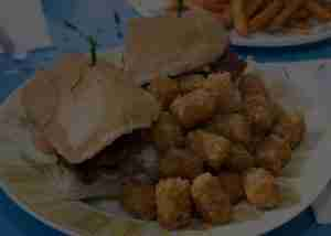 Chicken Sandwich & Tater Tots at Genoa Station Bar & Grill in Nevada